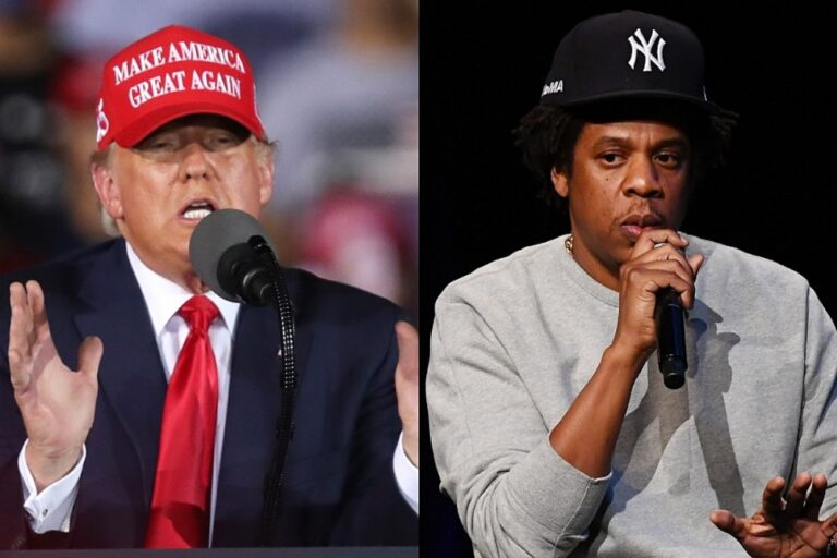 President Trump Criticizes Jay-Z Again for Cursing at Hillary Clinton Rally: Watch