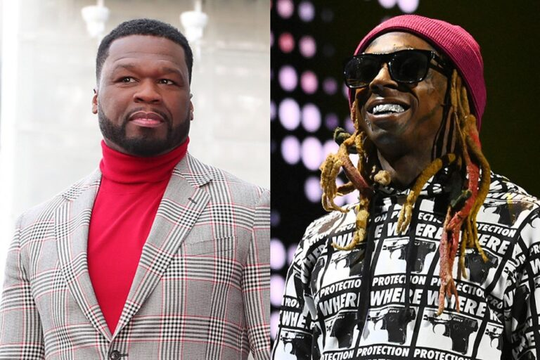 """50 Cent Reacts to Lil Wayne's Girlfriend Reportedly Dumping Him Over President Trump Support: """"You Can't Dump Little Wayne"""""""