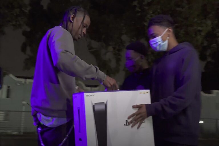 Travis Scott Surprises Two Teens With a PlayStation 5: Watch